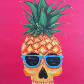 Pineapple Skull Dude