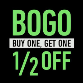 St. Patty's Weekend BOGO 1/2 OFF deal