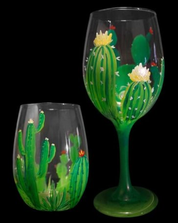 Desert Bloom - Wine Glasses