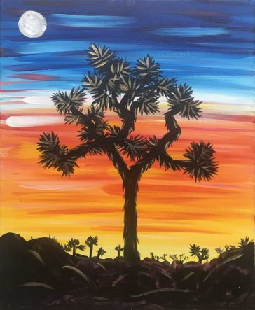 Joshua Tree Acrylic Painting