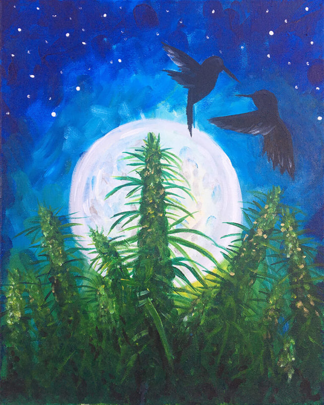 Blue Dream Acrylic Painting By Chelz Franzer