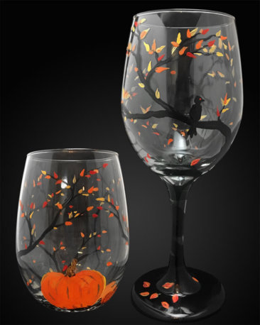 Autumn Wine Glass Set
