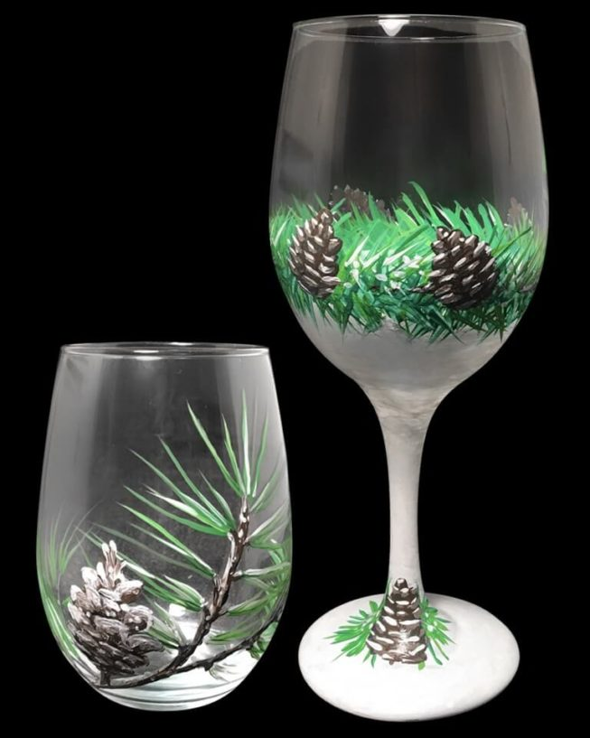 Winter Wine Glass Set
