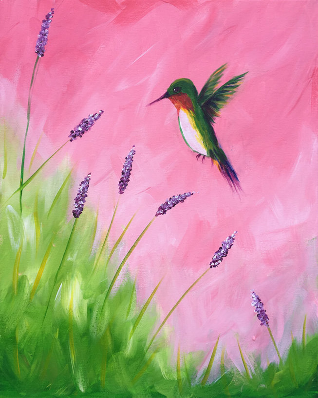Humming Bird Acrylic Painting