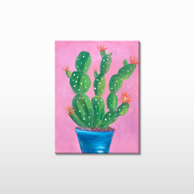 Prickly Blooms Themed Kids Painting Party