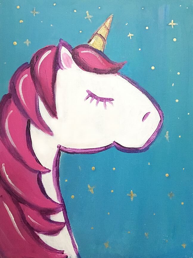Unicorn Kids Painting Party