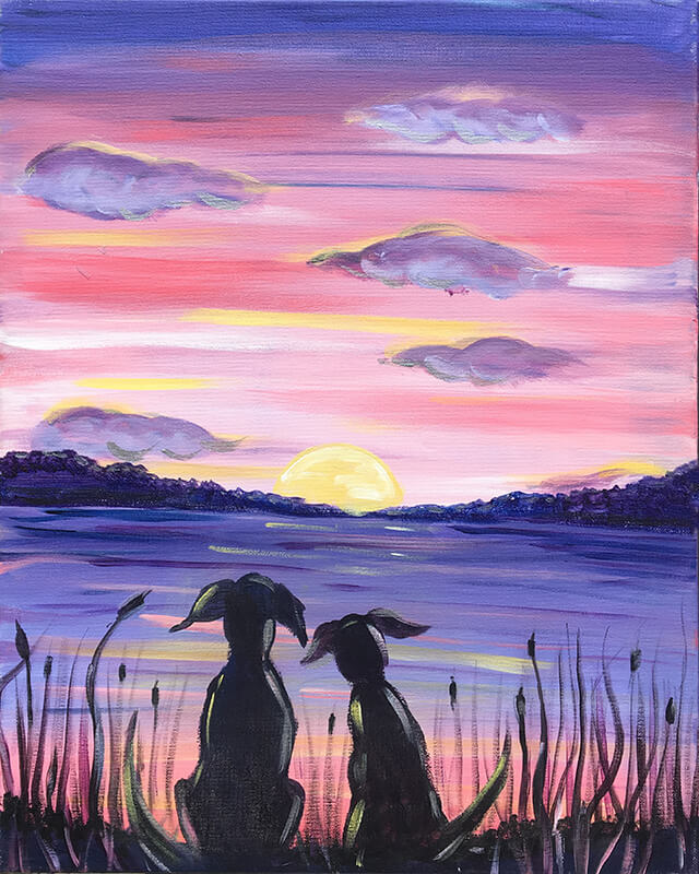 Doggie Sunset Painting Party