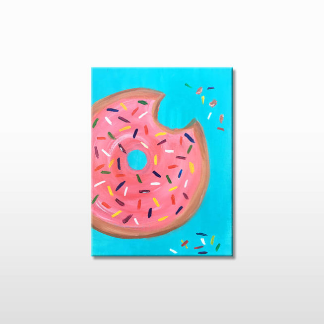Donut Themed Kids Painting Party