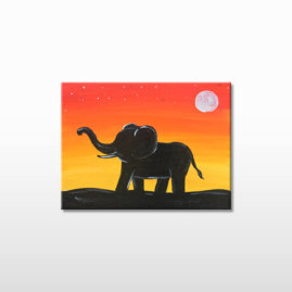 Elephant Sunset
