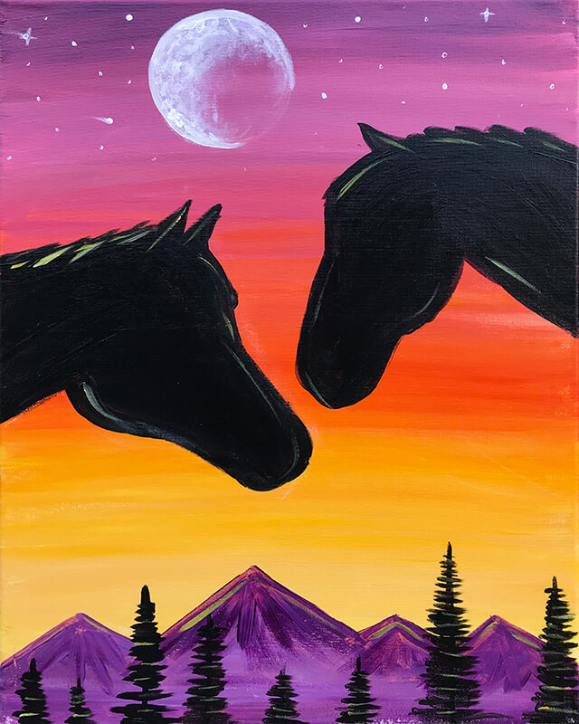 Spirit Riders Acrylic Painting