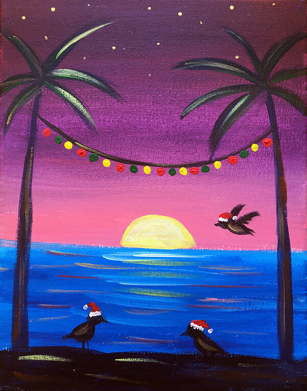Seagulls Greetings Painting Party